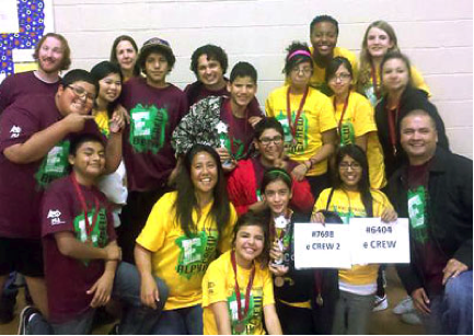 General Dynamics supported Arizona State University's exciting engineering outreach program for middle-school students, the First® Lego League Challenge. The students are part of the local Boys and Girls Clubs of Greater Scottsdale's 'eCrew' program, a rich source for General Dynamics' volunteer resources.